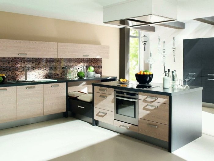 wohnideen küche eckküche mit schönen texturen