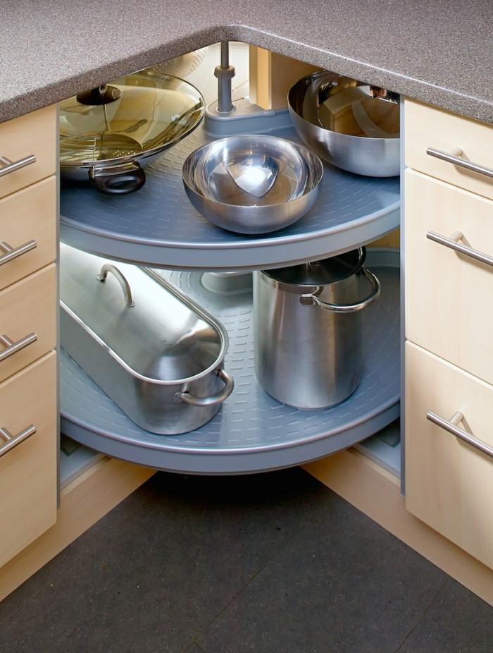 wohnideen küche eckkarussel macht die küche funktionaler