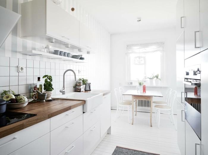 wohnideen küche innendesign in weiß offener wohnplan