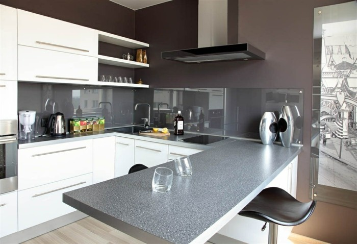 wohnideen küche funktionale kleine u förmige küche