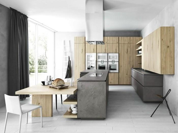 wohnideen küche minimalistische küche mit einzelnen modulen