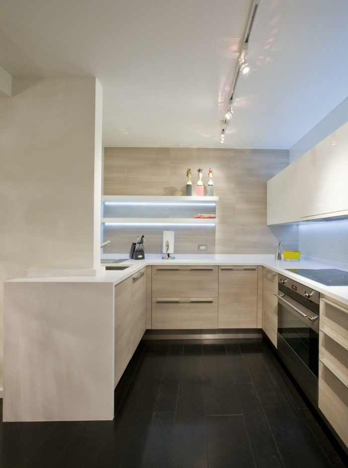 wohnideen küche schöne u förmige küche in beige