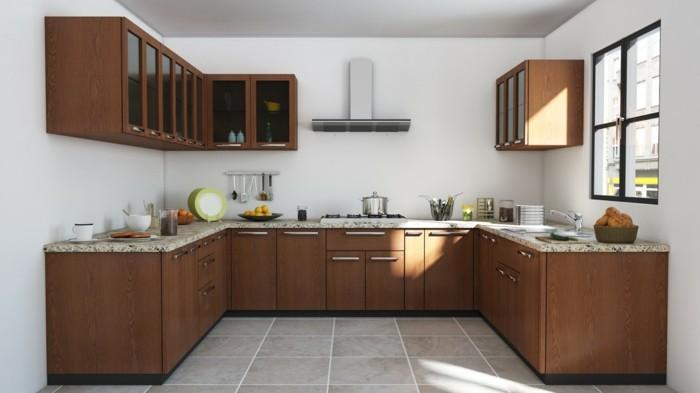 wohnideen küche u förmige köche mit viel freiraum