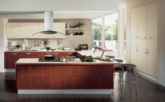 wohnideen küche u förmige küche in warmen farbtönen