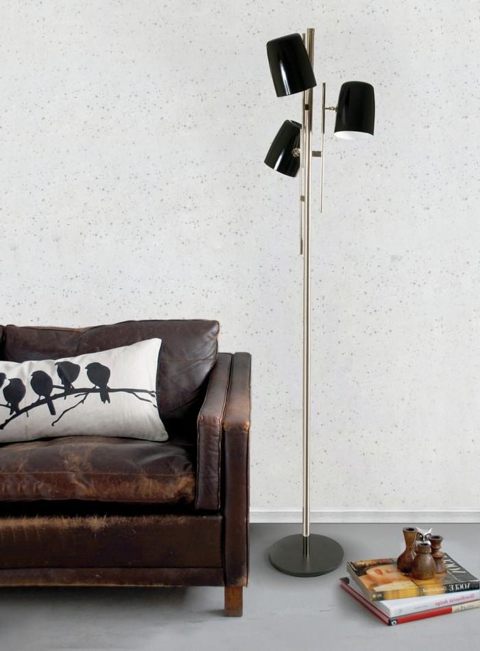 beleuchtung wohnzimmer schöne stehlampe in schwarz