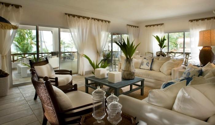 wohnideen wohnzimmer mediterranes wohnzimmer mit pflanzen