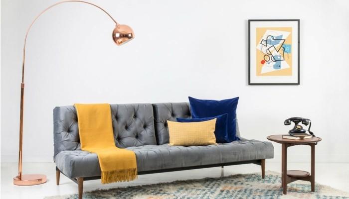 wohnideen wohnzimmer stehlampe mit schönem design