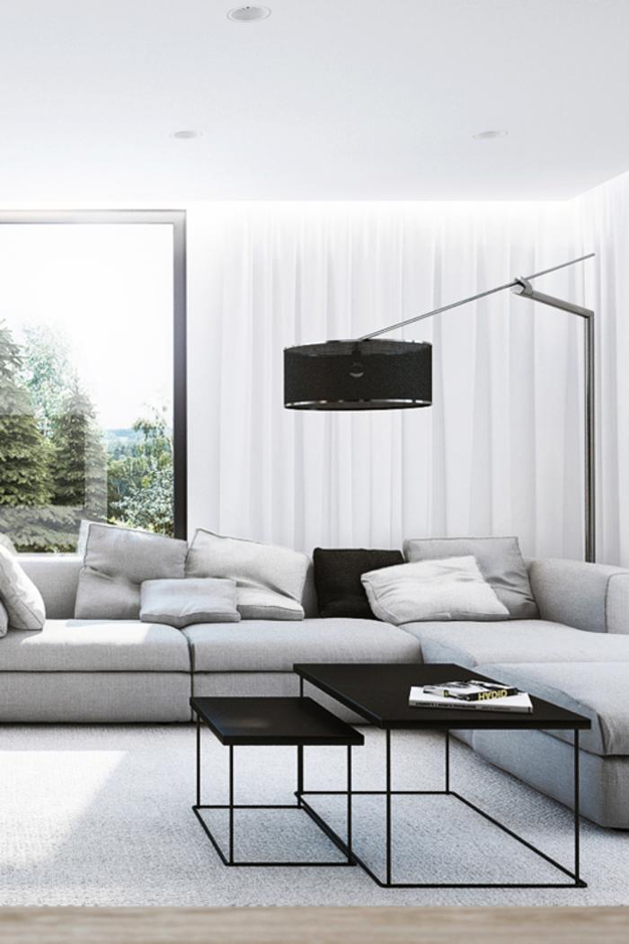 wohnideen wohnzimmer trendige stehlampe als eine funktionale lösung