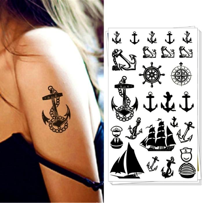 anker tattoo vorlagen klein
