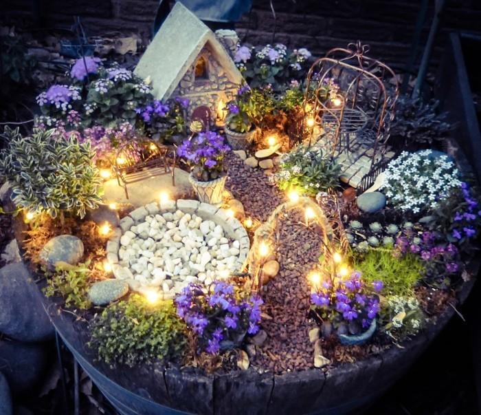 Ausgefallene Gartendeko Selber Machen Upcycling Ideen Diy Deko Garderobe Selber  Machen Backsteine Lichtspiele Traumgarten