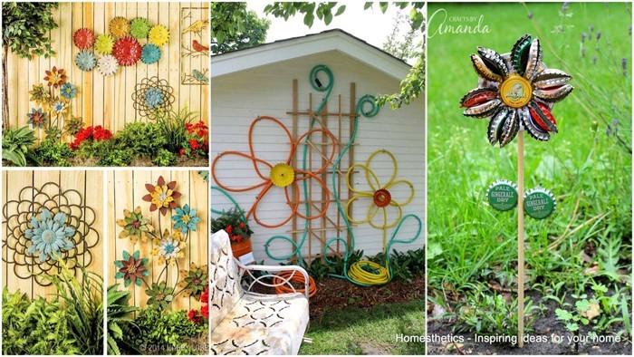 Gartendeko selbstgemacht basteln  Ausgefallene Gartendeko selber machen-101 Beispiele und Upcycling Ideen