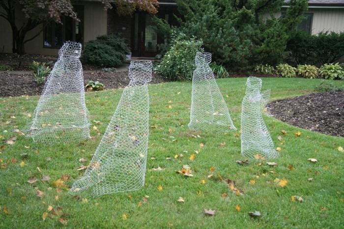 ausgefallene gartendeko selber machen upcycling ideen diy deko geister zum spetsommer gatenlaube
