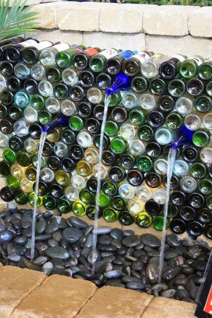 ausgefallene gartendeko selber machen upcycling ideen diy deko glasflaschen recyclen