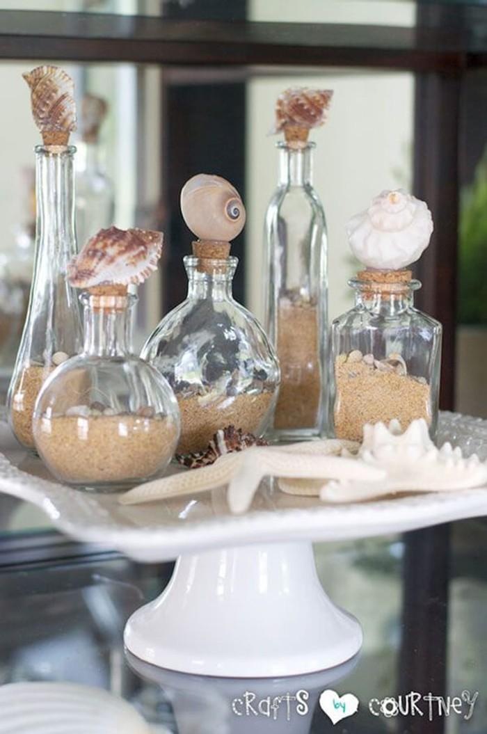 basteln mit muscheln sommerurlaub basteln mit naturmaterialien diy ideen beistelltisch
