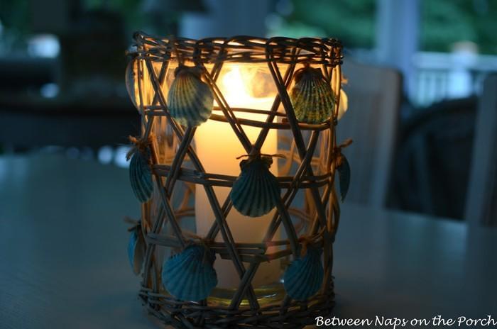 basteln mit muscheln sommerurlaub basteln mit naturmaterialien diy ideen windlichter basteln