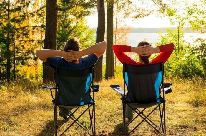 campingsessel im park