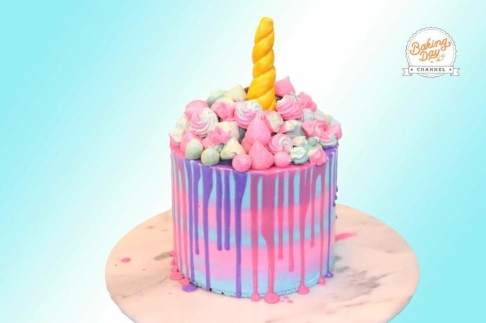 coole einhorntorte kindergeburtstag feiern ideen