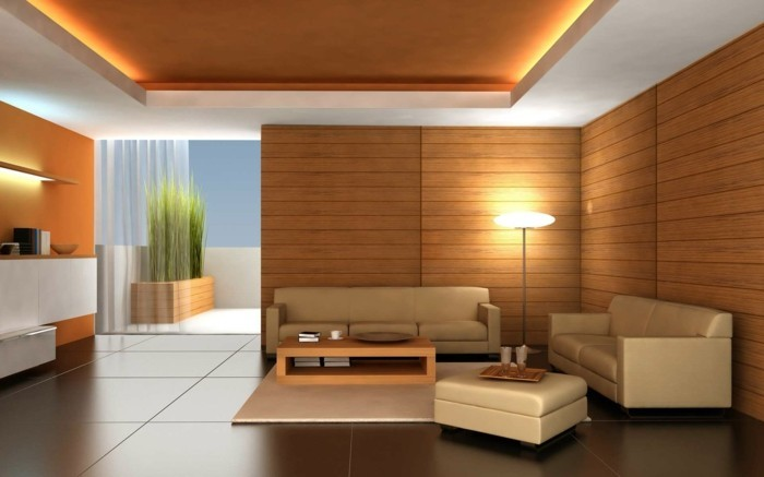 deckengestaltung elegante zimmerdecke im wohnbereich abgehängte decke mit led beleuchtung