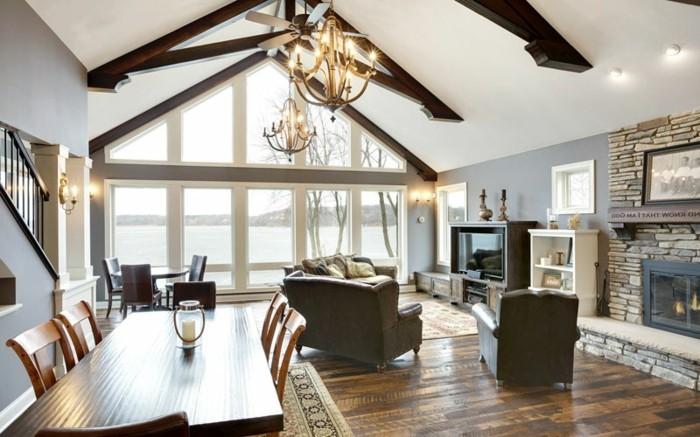 deckengestaltung im landhausstil im modernen wohnzimmer