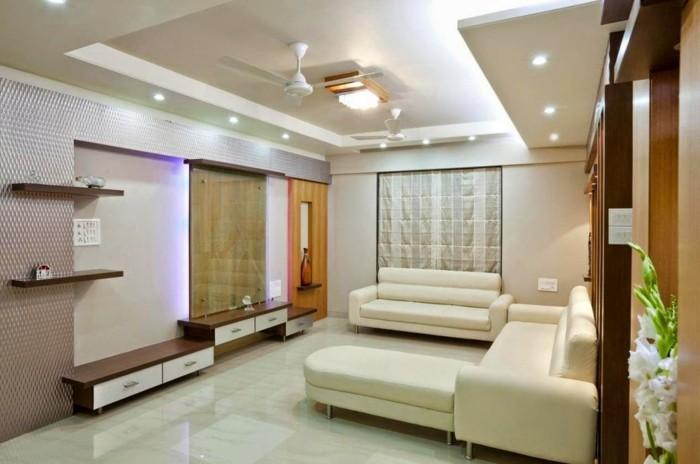 deckengestaltung im modernen wohnzimmer sorgt für echte hightlights
