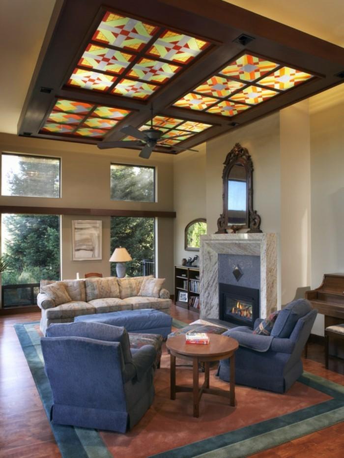 deckengestaltung kreative ideen wie man die wohnzimmerdecke selber gestaltet