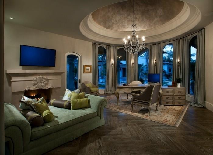 deckengestaltung moderne decke im offenen wohnbereich