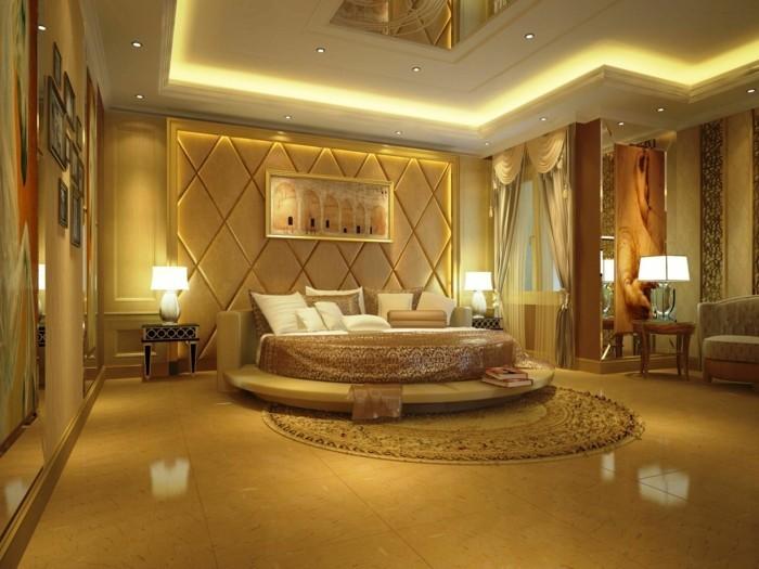 deckengestaltung schöne dekorative decke werten das schlafzimmer auf