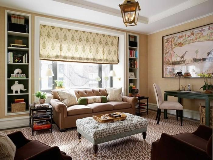 dekoideen wohnzimmer gemütliches interieur mit vielen mustern