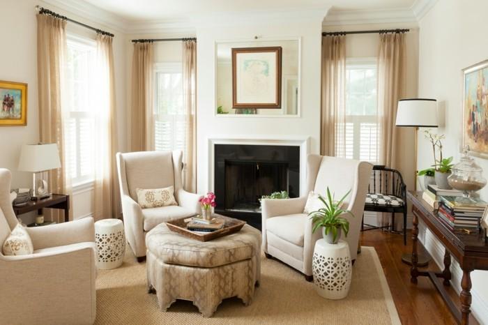 dekoideen wohnzimmer helle einrichtung durch pflanzen erfrischen
