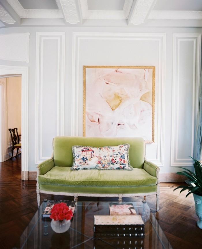 dekoideen wohnzimmer schöne gemälde werten den wohnraum auf