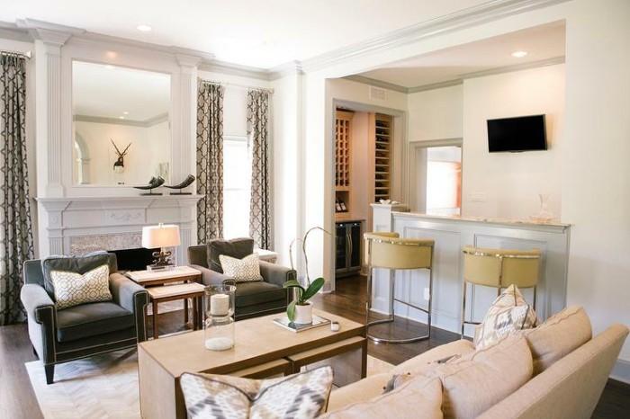 dekoideen wohnzimmer unterschiedliche muster kombinieren und eine orchidee ausstellen