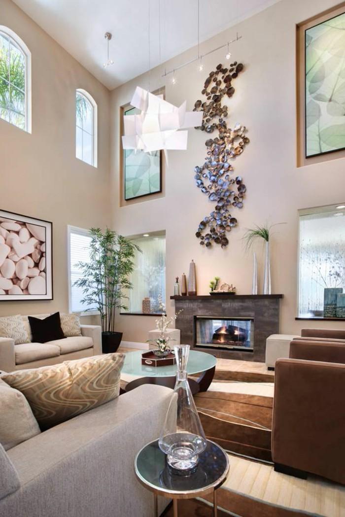 dekoideen wohnzimmer wunderschöne wanddeko und viele pflanzen