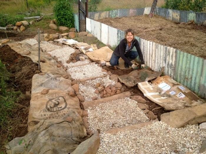 diy projekt ideen für gartentreppe selber bauen aus natursteinen kies und holz