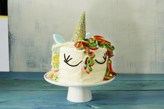 einhorn ideen party kindergeburtstag kuchen selber machen