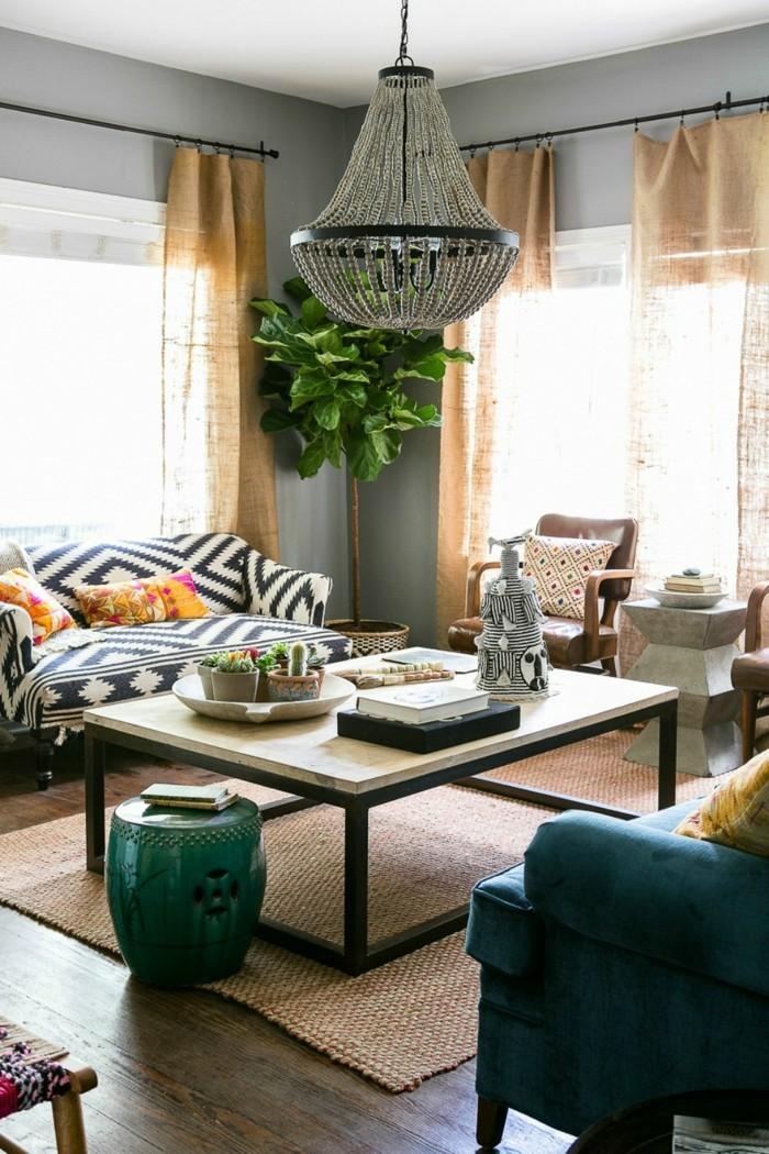 einrichtungsideen pflanzen erfrischen das wohnzimmer