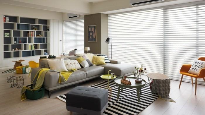 einrichtungsideen streifenteppich und frische muster sorgen für ein schönes zuhause