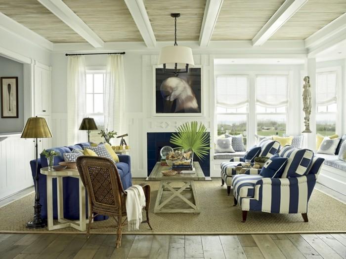 einrichtungsideen wunderschöne zimmerdecke und frische möbelstücke schaffen ein schönes wohnzimmer-zusammen
