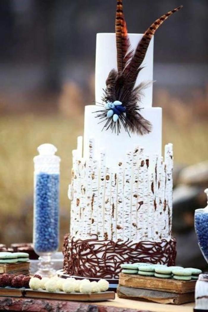 elegante boho torte hochezeit hippie style
