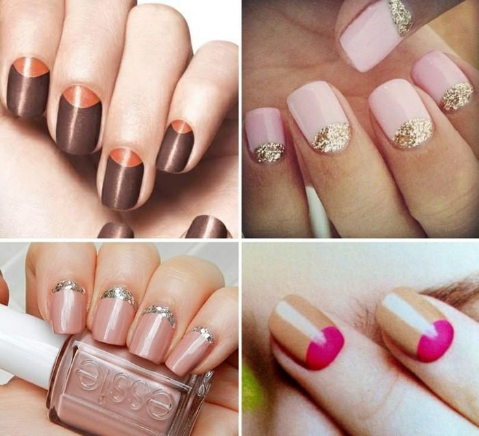 elegante fingernägel ideen sommer nageldesign nagellack gelnägel