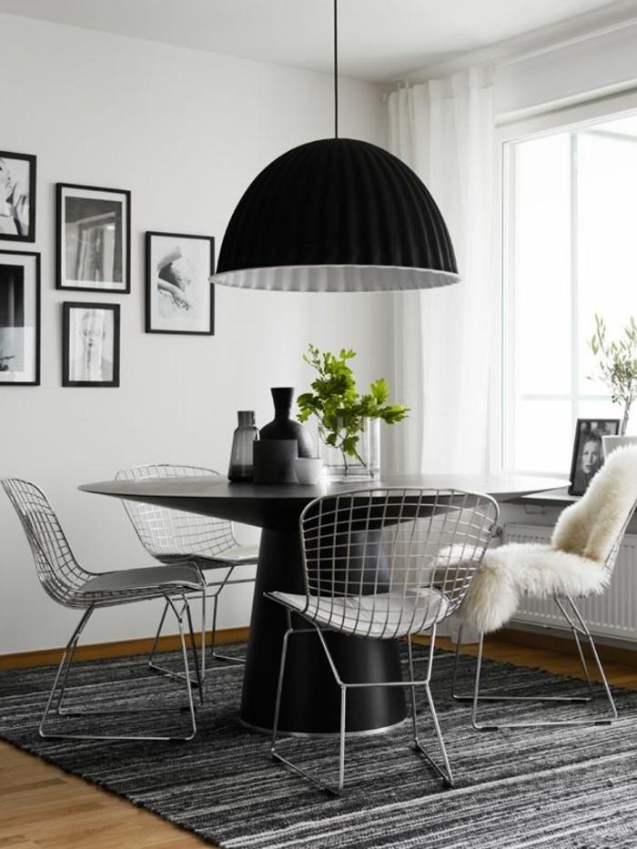 esstischlampe im skandinavischen stil in schwarz