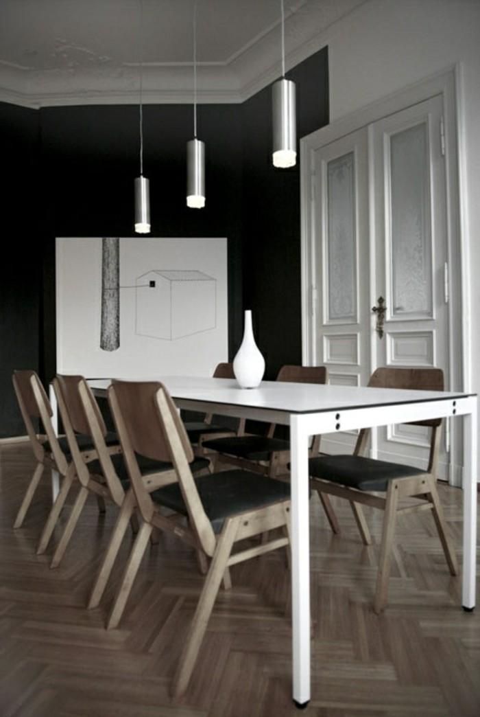 esstischlampe minimalistischer essbereich mit hängelampen