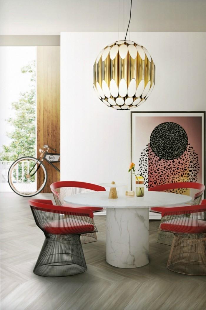 esszimmer modern lampe mit futuristischem design