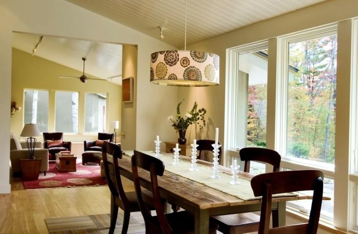 esszimmer modern schöne texturen und schicke tischdeko