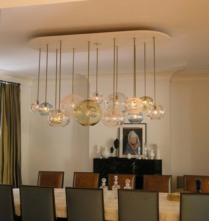 esszimmer modern beeindruckende hängeleuchten