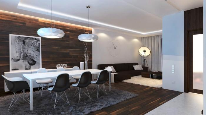 esszimmer modern trendige 3D hängelampen in weiß