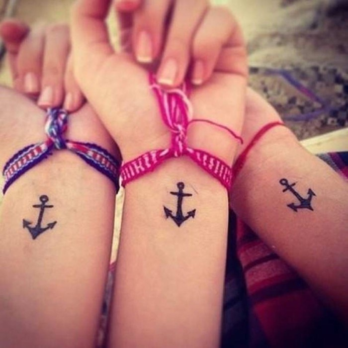 freundschaftstattoos anker handgelenk tattoo