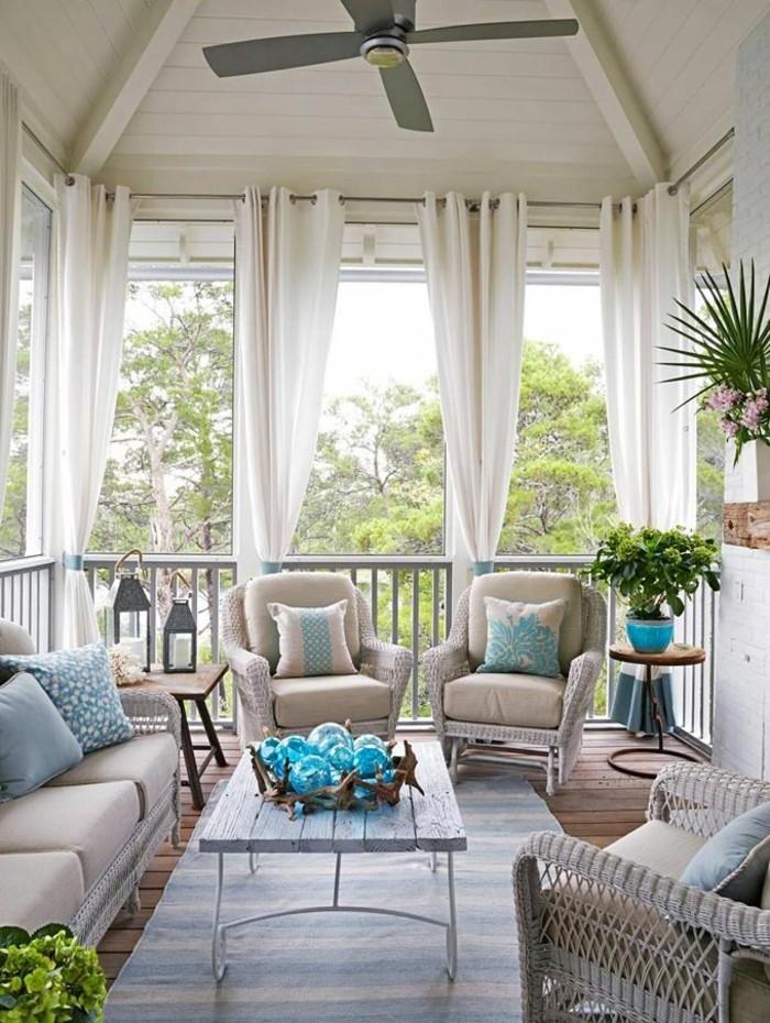 gartenideen einrichtungsideen für die moderne veranda sonnenschutz durch gardinen