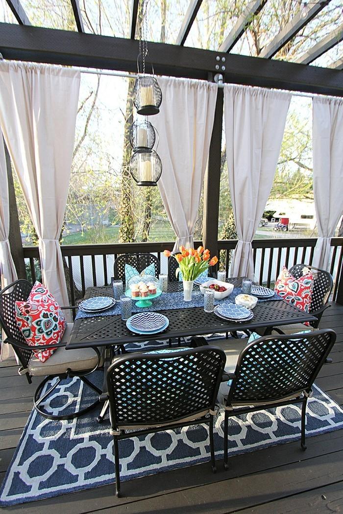 Gartenideen Mit Gardinen Für Eine Frische Terrassengestaltung
