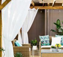 33 Ideen für den Garten mit Gardinen – Die Erholungsecke im Sommer muss über alle Extras verfügen