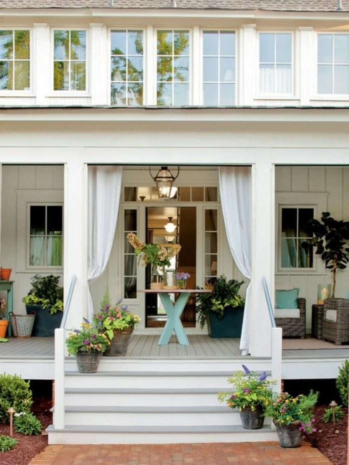 gartenideen terrasse mit gardinen für mehr privatheit